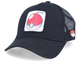 Pokemon Poke Ball Black/Black Trucker - Capslab