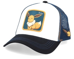 Pokemon Eevee White/Black/Navy Trucker - Capslab