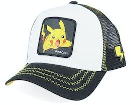 Pokemon Pikachu White/Black Trucker - Capslab