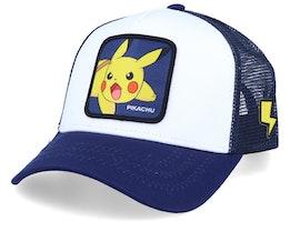 Pokemon Pikachu White/Royal Trucker - Capslab