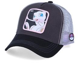 Pokemon Mew Charcoal/Black/Grey Trucker - Capslab