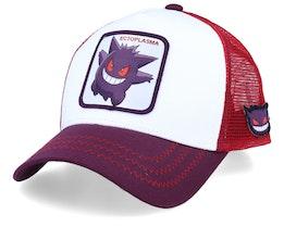 Pokemon Gengar White/Purple/Red Trucker - Capslab