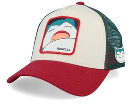 Pokemon Snorlax Beige/Red/Green Trucker - Capslab