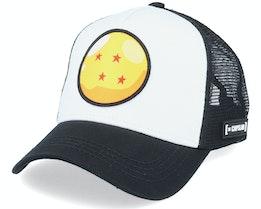 Dragon Ball Z Four Star Ball White/Black Trucker - Capslab