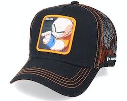 Dragon Ball Z Krillin Black/Orange Trucker - Capslab