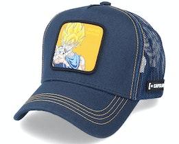 Dragon Ball Z Goku Saiyan Navy Trucker - Capslab