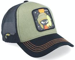 Looney Tunes Marvin the Martian Green/Black Trucker - Capslab