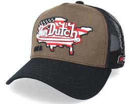 USA Brown/Black Trucker - Von Dutch