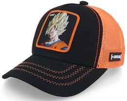 Kids Dragon Ball Z Son Goku Black/Orange Trucker - Capslab