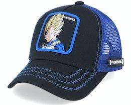 Kids Dragon Ball Vegeta Black/Blue Trucker - Capslab