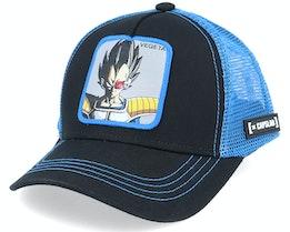Kids Dragon Ball Z Vegeta Black/Blue Trucker - Capslab