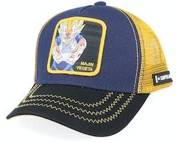Dragon Ball Z Majin Vegeta Navy/Yellow/Black Trucker - Capslab