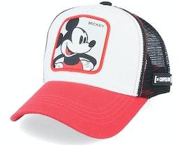Kids Disney Mickey Mouse White/Red/Black Trucker - Capslab