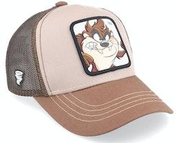 Kids Looney Tunes Tasmanian Devil Taz Beige/Brown Trucker - Capslab