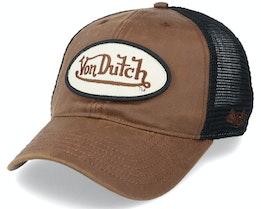 Pete Unstructured Brown/Black Trucker - Von Dutch