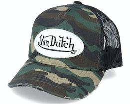 Kids Oval Patch Camo/Black Trucker - Von Dutch