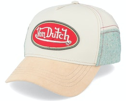 Oval Patch Beige/Teal Adjustable - Von Dutch