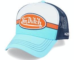 Racing Patch White/Blue/Orange/Navy Trucker - Von Dutch