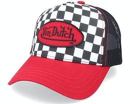 Square Red/Black Trucker - Von Dutch