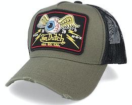 Square Patch Military/Black Trucker - Von Dutch