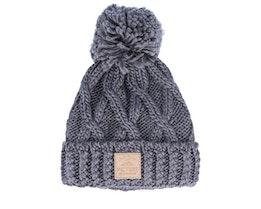 Haven Grey Melange Knitted Pom - Picture