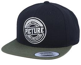 Junction Black/Olive Green Snapback - Picture