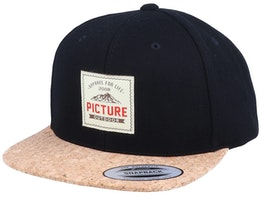 Dixon Wool Black/Cork Snapback - Picture