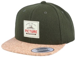 Dixon Wool Army Green/Cork Snapback - Picture