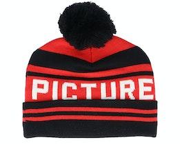 Kids Karlittle B Red/Black Pom - Picture