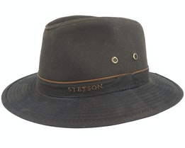 Ava Waxed Cotton Brown Trilby - Stetson