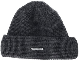 Merino Wool Dark Grey/Black Beanie - Stetson