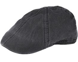 Texas Organic Cotton Dark Grey Flat Cap - Stetson