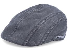 Ivy CO/PE Ear Flap Black Flat Cap - Stetson