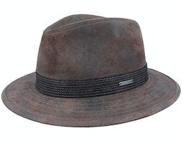 Tller Pigskin Brown Hat - Stetson