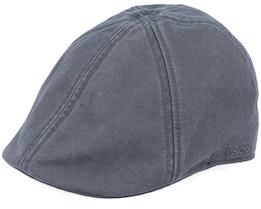 Texas Cotton Vintage Black Flat Cap - Stetson