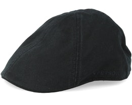 Texas Cotton Black Flat Cap - Stetson