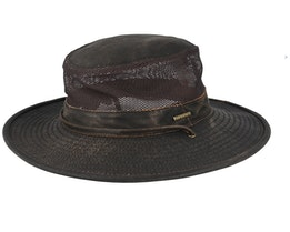 Outdoor Air Mesh CO/PE Washed Brown Traveller - Stetson