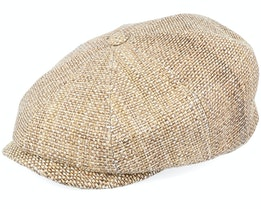 Hatteras Toyo Brown Brass Flat Cap - Stetson