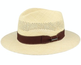 Tiller Panama Natural Straw Hat - Stetson