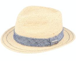Traveller Raffia Beige/Denim Straw Hat - Stetson