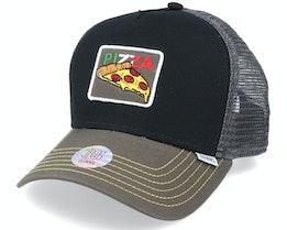 Hft Cap Food Pizza Black Trucker - Djinns