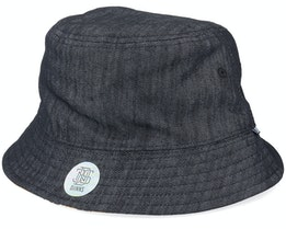 Hat Luckycat Linen Black Bucket - Djinns
