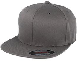 Flat Brim Dark Grey Fitted - Flexfit
