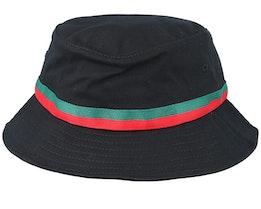 Stripe Black Bucket - Yupoong