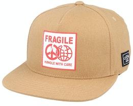 Fragile Peace Sand/Red Snapback - Cayler & Sons