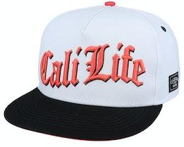 Cali Life White/Black/Orange Snapback - Cayler & Sons