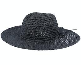 Paper Crochet Floppy Black Sun Hat - Seeberger