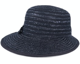In Straw Braid Black Cap - Seeberger