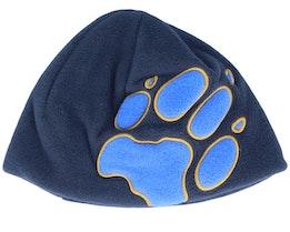 Kids Front Paw Night Blue/Blue Beanie - Jack Wolfskin