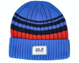 Kids Knit Cap Coastal Blue Cuff - Jack Wolfskin